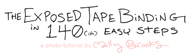 the exposed tape binding in 140ish easy steps-- a photo-tutorial by molly brooks